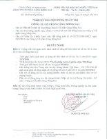 Nghị quyết Hội đồng Quản trị - Công ty Cổ phần Cảng Đồng Nai