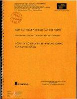 Báo cáo tài chính quý 2 năm 2015 (đã soát xét) - Công ty cổ phần Dịch vụ Hàng không Sân bay Đà Nẵng