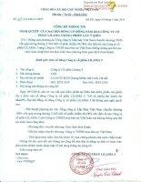 Nghị quyết Đại hội cổ đông - Công ty Cổ phần Lilama 3