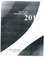 Báo cáo thường niên năm 2015 - Công ty cổ phần Cấp nước Quảng Bình