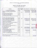 Báo cáo tài chính quý 2 năm 2015 - Công ty Cổ phần Dược Lâm Đồng - Ladophar