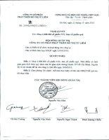 Nghị quyết Hội đồng Quản trị ngày 23-10-2010 - Công ty Cổ phần Phát triển Đô thị Từ Liêm