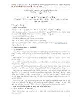 Báo cáo thường niên năm 2014 - Công ty Cổ phần Đầu tư và Xây dựng Thủy lợi Lâm Đồng