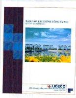 Báo cáo tài chính công ty mẹ quý 4 năm 2013 - Công ty Cổ phần Phát triển Đô thị Từ Liêm