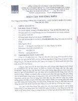 Báo cáo thường niên năm 2013 - Công ty cổ phần Dịch vụ Vận tải Dầu khí Cửu Long