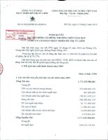 Nghị quyết đại hội cổ đông ngày 23-3-2010 - Công ty Cổ phần Phát triển Đô thị Từ Liêm