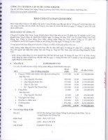 Báo cáo tài chính năm 2013 (đã kiểm toán) - CTCP Cấp nước Long Khánh