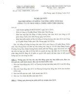 Nghị quyết Đại hội cổ đông thường niên - Công ty Cổ phần Nhựa Thiếu niên Tiền Phong