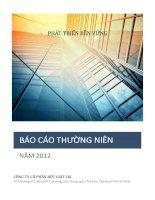 Báo cáo thường niên năm 2012 - Công ty Cổ phần Bột giặt Lix