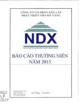 Báo cáo thường niên năm 2015 - Công ty Cổ phần Xây lắp Phát triển Nhà Đà Nẵng