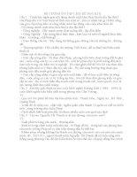 ĐỀ CƯƠNG ôn tập LỊCH sử học kì II