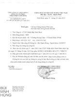 Báo cáo tài chính quý 3 năm 2015 - Công ty Cổ phần Nhiệt điện Ninh Bình