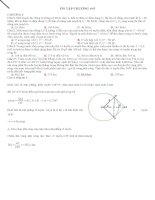 Câu hỏi trắc nghiệm khó chương 4,5,6,7 _ Tài liệu ôn thi THPT môn vật lý 2016