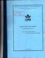 Báo cáo tài chính công ty mẹ quý 3 năm 2012 - Công ty cổ phần Giống cây trồng Trung ương