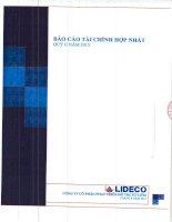 Báo cáo tài chính hợp nhất quý 2 năm 2015 - Công ty Cổ phần Phát triển Đô thị Từ Liêm
