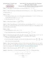 đề thi thử thpt quốc gia môn toán DE200 sở GD   đt bình dương
