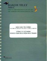 Báo cáo tài chính năm 2015 (đã kiểm toán) - CTCP Khách sạn Bưu điện Nha Trang