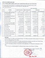 Báo cáo tài chính quý 3 năm 2012 - Công ty Cổ phần Bột giặt Lix