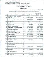 Báo cáo tài chính công ty mẹ quý 2 năm 2012 - Tổng Công ty cổ phần Bảo hiểm Petrolimex
