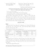 Nghị quyết đại hội cổ đông ngày 18-04-2009 - Công ty Cổ phần Nhựa Thiếu niên Tiền Phong