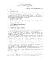 Báo cáo thường niên năm 2012 - Công ty Cổ phần Nhiệt điện Ninh Bình
