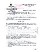 Nghị quyết Hội đồng Quản trị ngày 24-1-2011 - Công ty cổ phần Đầu tư và Phát triển Đô thị Long Giang