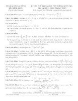 đề thi thử thpt quốc gia môn toán DE230 sở GD   đt lâm đồng