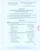 Nghị quyết Đại hội cổ đông thường niên năm 2010 - Công ty Cổ phần Lilama 7