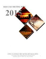 Báo cáo thường niên năm 2015 - Công ty Cổ phần Môi trường Đô thị Hà Đông