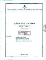 Báo cáo tài chính hợp nhất quý 1 năm 2012 - Công ty cổ phần Đầu tư và Phát triển Đô thị Long Giang
