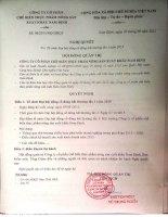 Nghị quyết Hội đồng Quản trị - CTCP Chế biến thực phẩm nông sản xuất khẩu Nam Định