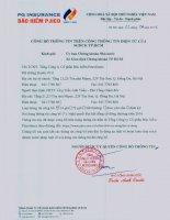 Nghị quyết Đại hội cổ đông thường niên - Tổng Công ty cổ phần Bảo hiểm Petrolimex