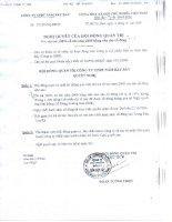 Nghị quyết Hội đồng Quản trị ngày 11-12-2009 - Công ty Cổ phần Đầu tư Năm Bảy Bảy