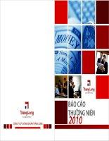 Báo cáo thường niên năm 2010 - Công ty cổ phần Chứng khoán MB