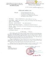 Nghị quyết Hội đồng Quản trị - Công ty cổ phần Dịch vụ Vận tải Dầu khí Cửu Long