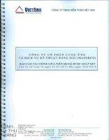 Báo cáo tài chính quý 2 năm 2014 (đã soát xét) - Công ty Cổ phần Cung ứng và Dịch vụ Kỹ thuật Hàng Hải