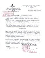 Nghị quyết đại hội cổ đông ngày 14-12-2010 - Công ty cổ phần Đầu tư và Phát triển Đô thị Long Giang