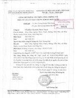 Nghị quyết Hội đồng Quản trị - Công ty cổ phần Cấp nước Nhơn Trạch