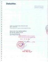 Báo cáo tài chính công ty mẹ năm 2014 (đã kiểm toán) - Công ty cổ phần Hóa phẩm dầu khí DMC - miền Bắc