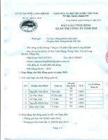 Báo cáo tình hình quản trị công ty - CTCP Cấp nước Long Khánh