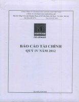 Báo cáo tài chính quý 4 năm 2012 - Công ty cổ phần Dầu khí Đông Đô