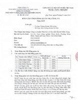 Báo cáo tình hình quản trị công ty - Công ty cổ phần Phân bón và Hóa chất Dầu khí Miền Trung