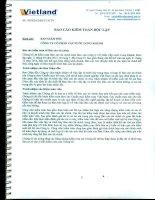 Báo cáo tài chính năm 2014 (đã kiểm toán) - CTCP Cấp nước Long Khánh