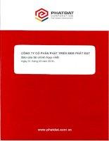 Báo cáo tài chính hợp nhất quý 1 năm 2016 - Công ty cổ phần Phát triển Bất động sản Phát Đạt
