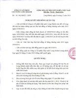 Nghị quyết Hội đồng Quản trị - CTCP Cấp nước Long Khánh