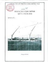 Báo cáo tài chính quý 1 năm 2016 - Công ty Cổ phần Cảng Đồng Nai