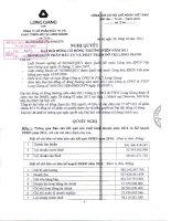 Nghị quyết Đại hội cổ đông thường niên năm 2011 - Công ty cổ phần Đầu tư và Phát triển Đô thị Long Giang