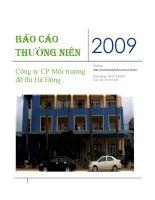 Báo cáo thường niên năm 2009 - Công ty Cổ phần Môi trường Đô thị Hà Đông
