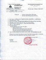 Báo cáo tài chính quý 3 năm 2014 - Công ty Cổ phần Dược Lâm Đồng - Ladophar