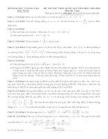 đề thi thử thpt quốc gia môn toán DE250 sở GD   đt bắc ninh